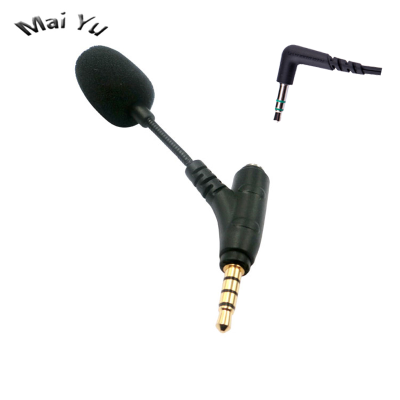 Professional Mini Mobile Phone Microphone With Earphone Connector 3.5mm Stereo Microfone Condenser For Most Phone