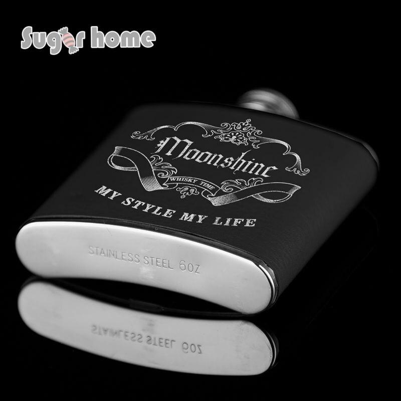 Mealivos Portable 6 oz Ανοξείδωτο χάλυβα Hip Flask - Κουζίνα, τραπεζαρία και μπαρ - Φωτογραφία 3