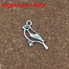 Mic 10 шт цинковый сплав односторонний дизайн полые птицы Очаровательные