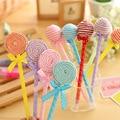 6 Pcs/lot Novelty Plastic Kawaii Candy Color Pens Shape Ball Point Lollipop Ballpoint Pen Cute Stationery School Supplies