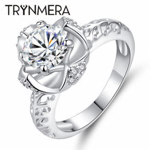 TRYNMERA Wedding Rings For Women Square Simulated Jewelry Engagement ring Accessories(China)