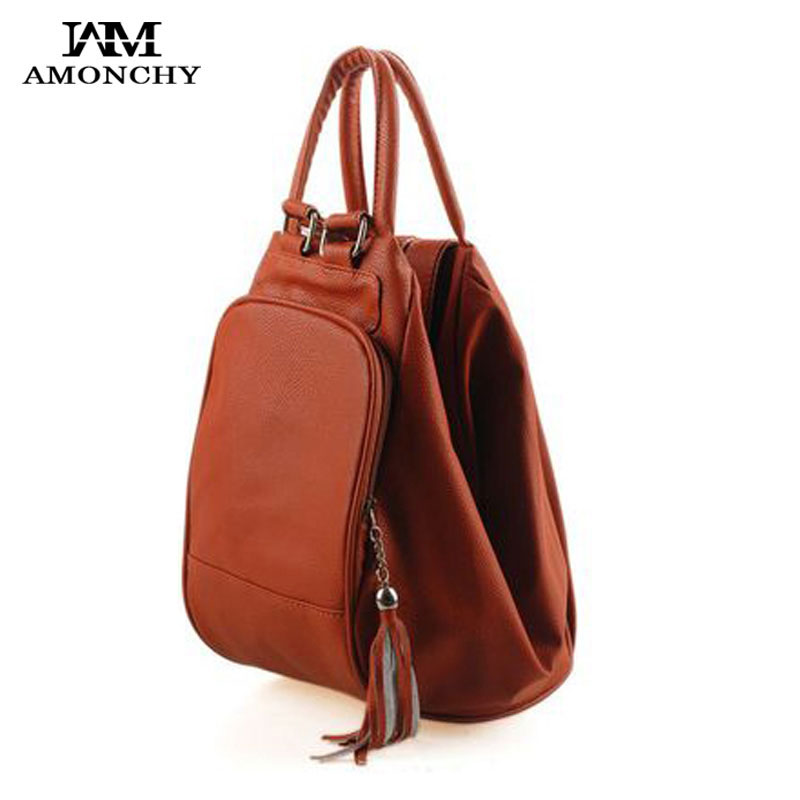 Fashion Tassel Women's Leather Backpacks Casual Lady Backpack Travel Bag Campus Women Bag School Shoulder Bags Mochilas Feminina doodoo fashion streaks women casual bear backpacks pu leather school bag for girl travel bags mochilas feminina d532