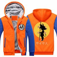 New arrival Dragon Ball Z Baseball jacket Son Goku Cosplay Costumes Anime Show Halloween Thicken Sweatshirt Goku Hoodie 011501