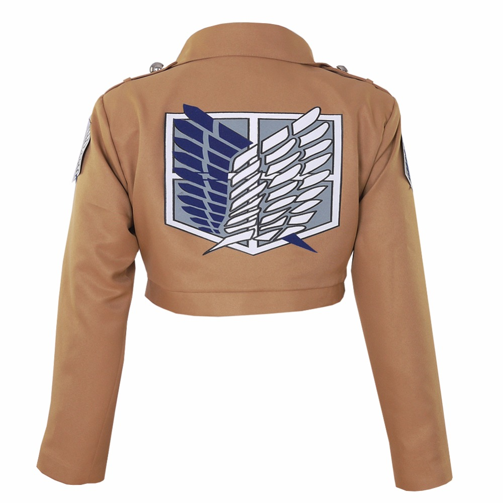 Halloween Attack on Titan Jacket Shingeki no Kyojin Jacket Survey Corps TV  Eren Jaeger Cosplay Costume Game Anime Japanese