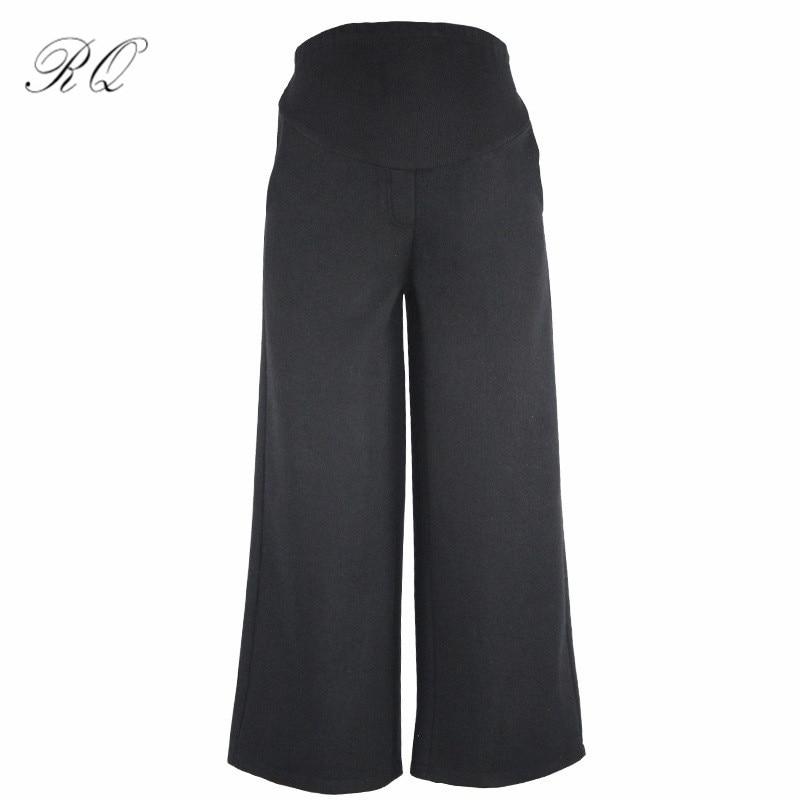 RQ Spring and autumn maternity pants loose cotton cotton Bib pants Haren summer trousers for pregnant women KZ5
