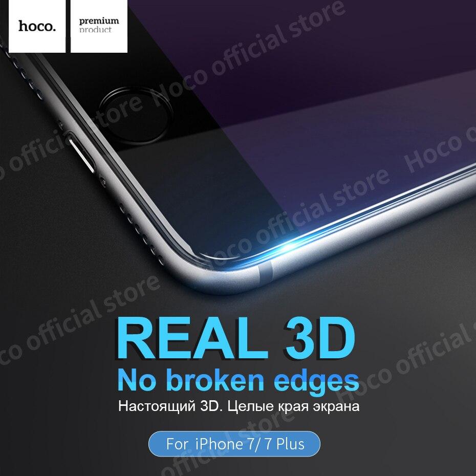 bilder für HOCO 3D Rand Touch Displayschutzfolie Für Apple iPhone 7 & 7 PLUS Schützen Gehärtetem Glas Schutzhülle Voll Abgedeckt schutz