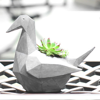 Decorative Resin Succulent Plant Planter Flower Pot DIY Home Desk Garden Craft Decoration Hot Design Creative
