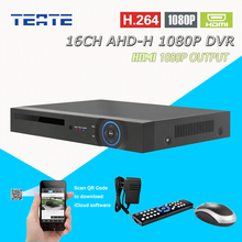 TEATE CCTV 16ch AHD 1080P HD surveillance DVR NVR 16 channel AHD-H HDMI Standalone safety 3G WIFI video recorder T-G16D10PB02