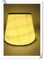 Lamp shade for table lamp Art Deco check Pattern PVC lamp cover Fashionable Decorative E27 bedroom table lampshade