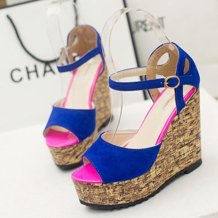 Free shipping summer waterproof wedge sandals platform shoes font b women b font shoes