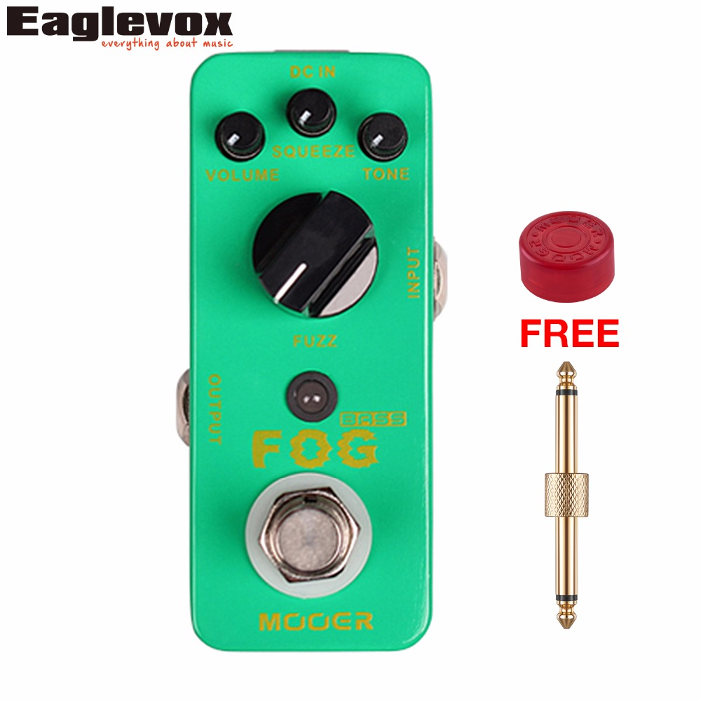 Mooer Fog Fuzz Bass Effect Pedal Mini Effects True Bypass with Free Connector and Footswitch Topper mooer ensemble queen bass chorus effect pedal mini guitar effects true bypass with free connector and footswitch topper