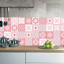 Pink Tile Floor Sticker 20 100cm 1pcs Kitchen Bathroom Waist Line Diy Wall