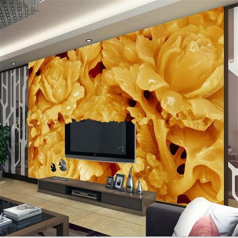 Beibehang Seamless 3d Stereoscopic Wallpaper Living Room TV Backdrop Large Mural Papel De Parede Infantil Photo Wall Paper