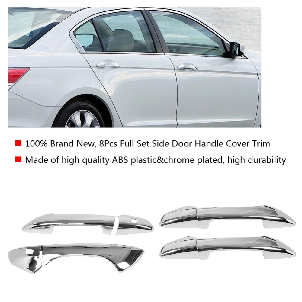 8pcs Silver Outside Door handle trim Stainless steel for Honda Accord 2018