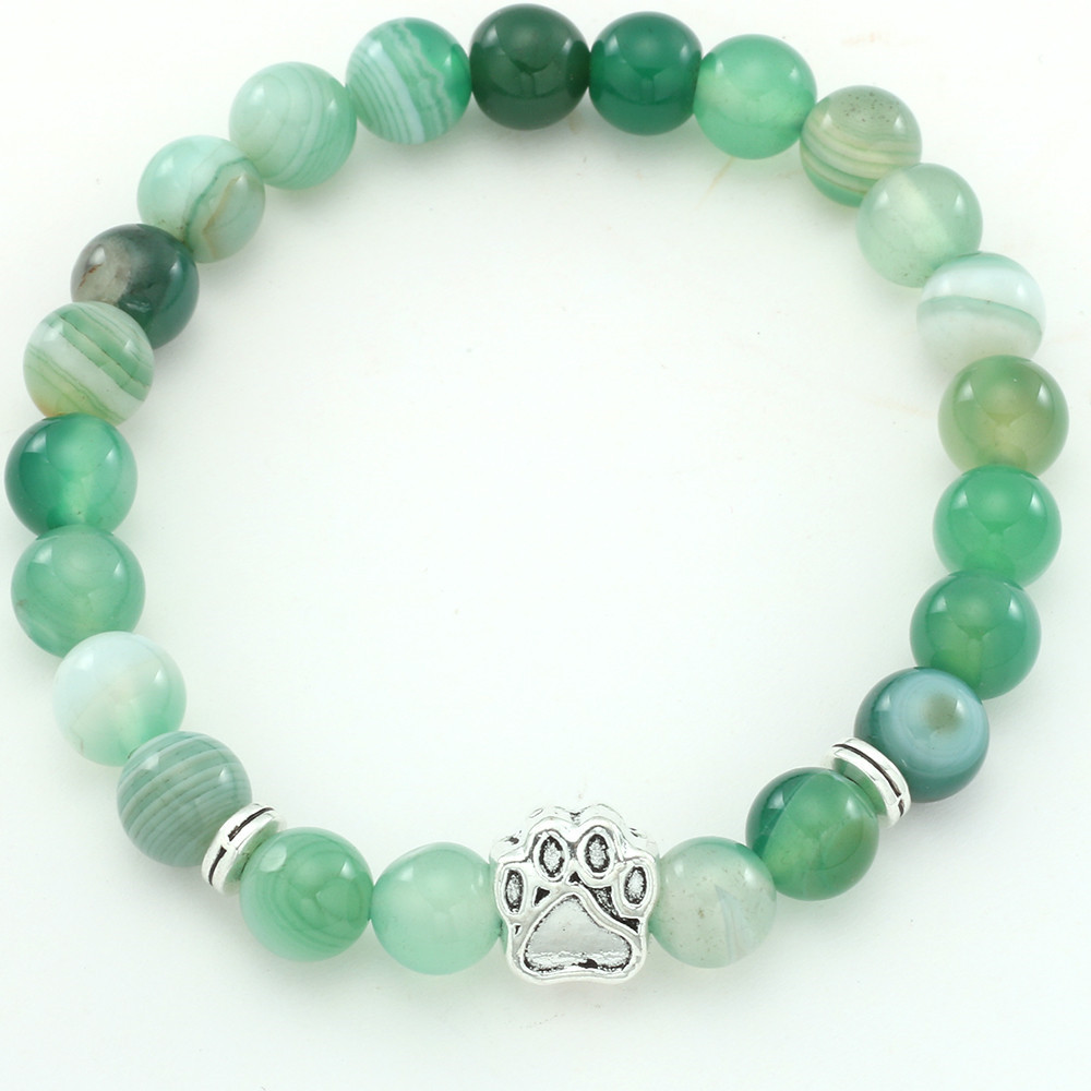 Natural Stone Beads Chakra Bracelets Handmade Wristband Bangle bijoux Animal Pet Bracelet Jewelry Gift for Dog Cat in Charm Bracelets from Jewelry Accessories