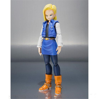 SHF S.H.Figuarts Anime Dragon Ball Z Android NO. 18 Lazuli PVC Action Figure Collection Model Toys Doll 13cm