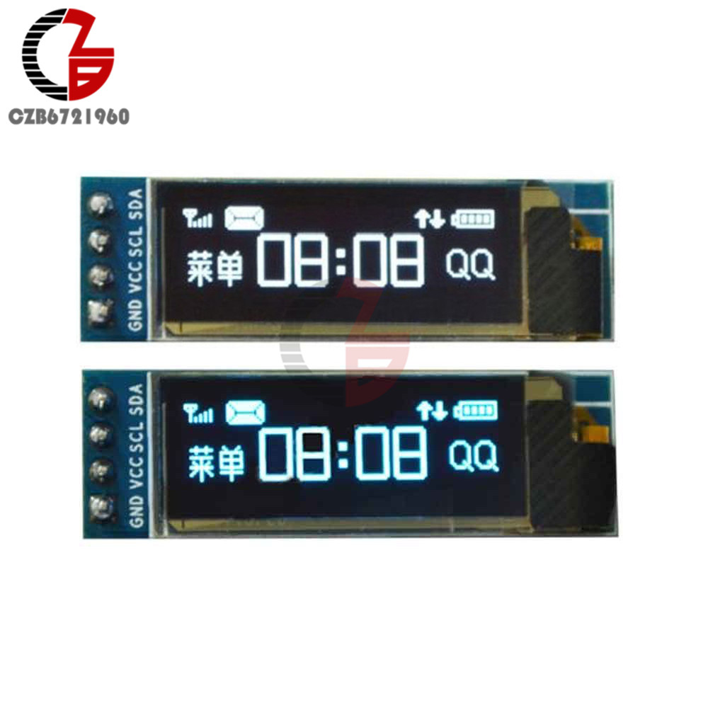 DC 3.3V-5V 0.91 I2C IIC Serial OLED Display Module 0.91 inch OLED Screen 128x32 12832 fo ...