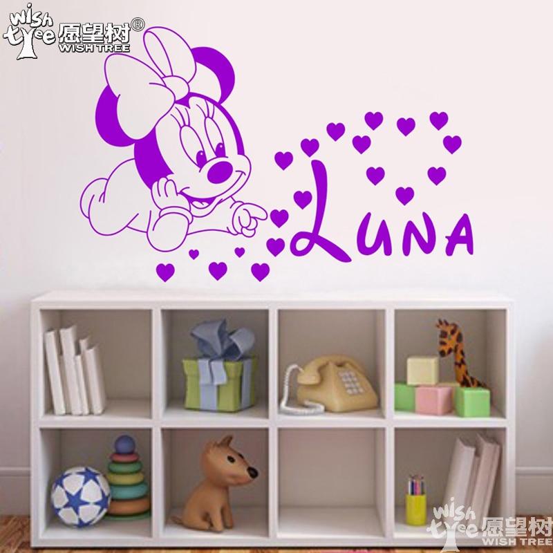 Minnie del bebé pegatinas de pared decoración del hogar pegatina de pared person