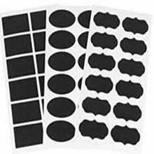36pcs Creative Chalkboard Blackboard Craft Stickers Jar Label Tags Pantry Storage Organizer Mason Labels