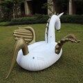 250 cm flamingo piscina flutuante ouro pegasus unicórnio filhós inflável inflável anel de natação brinquedos piscina inflável flamingo dhl livre