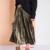[Twotwinstyle] primavera longo de veludo elástico na cintura plissada saias das mulheres nova moda streetwear 3 cores