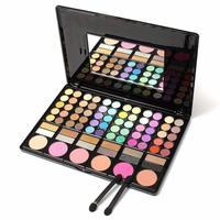 Popfeel Colorful Palette Eye Shadow Kit 78 Color Contour Powder Fix Skin Makeup Set Glitter Matte