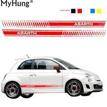 Car Stickers Decoration Car Whole Body Stickers For Fiat 500 Abarth Grande Punto Bravo Doblo Panda Ducato 2pcs Car-Styling