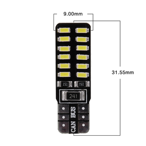 Image 2 - Bombilla led canbus para coche, T10 Canbus, 24led, 3014smd, w5w, t10, Smd, 100 t10, 24smd, sin errores Obc, 194 Uds. Por lote, venta al por mayor