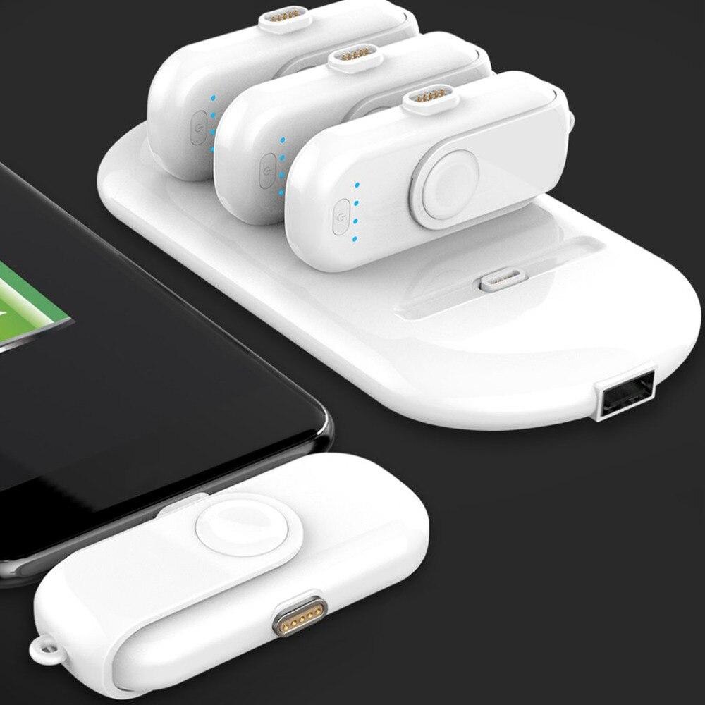 9000 mAh Mini doigt batterie externe sans fil batterie magnétique chargeur magnétique batterie externe Station de charge Packs pour téléphone portable