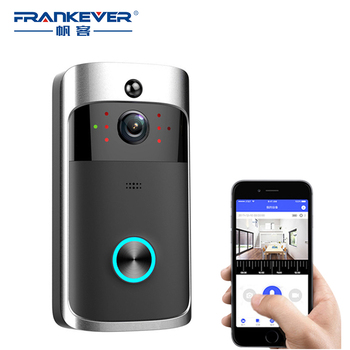 FrankEver WiFi Smart Control Video Doorbell 720P HD Wireless Video Night Vision Support TF Card Home Security Camera Smart House mool wi fi video smart doorbell with 2 ways audio and video sensor1280 x 720 field of view180 degree video hd 720p