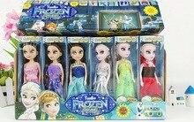 2016  Princess Elsa Anna Baby Girls Dolls Cinderella Olaf Kids Toys Snow Queen Princess Anna Elsa Dolls Mini Elsa Doll