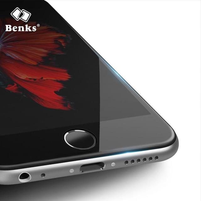Benks 0.2mm ultra thin protectores de pantalla de la cubierta completa para el iphone 6/6 s/6 plus/6 s más completo cubierto películas de vidrio templado