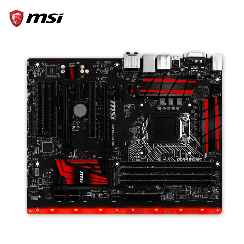 MSI H170A GAMING PRO Original New Desktop Motherboard H170 Socket LGA 1151 i3 i5 i7 DDR4 64G SATA3 USB3.0 ATX original h110md pro 1151 h110 motherboard ddr3 support g4500 i3 6100