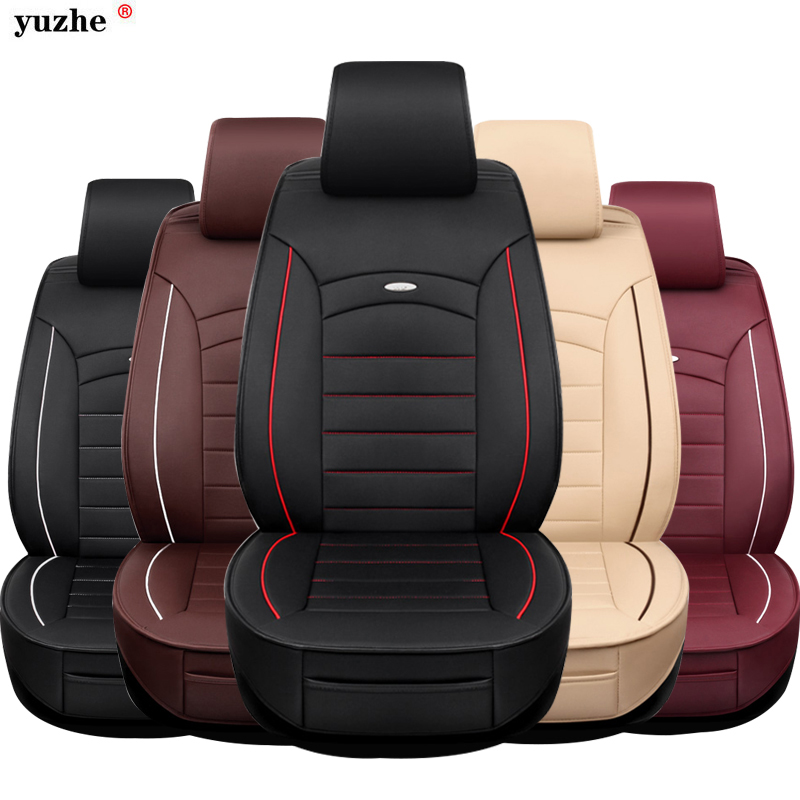 Yuzhe leather car seat cover For Volvo XC60 XC90 S60L S90 V40 V60 S60 V70 s40 s60 C70 2013-2016 car accessories styling cushion цена