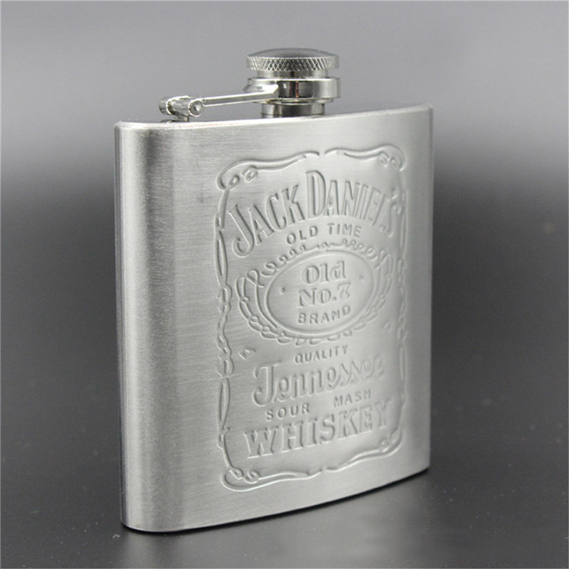 Portable ballon de la hanche caps En Acier Inoxydable avec la Boîte comme Cadeau whisky Honnête Flacon Bouteille Tasse Wisky Verrerie Bouteille Jerry Peut 6 oz