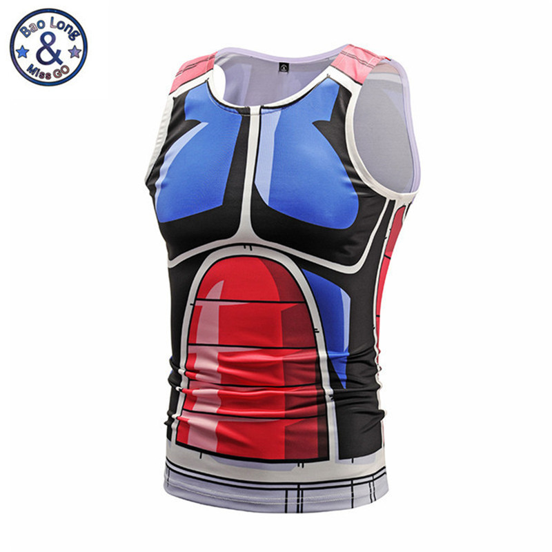 Dragon Ball Z Tee Shirt Zorn Fitness Compression Shirt Sleeveless Crossfit Shirt 3D Anime Tight Fitting Tank Top Cosplay Costume