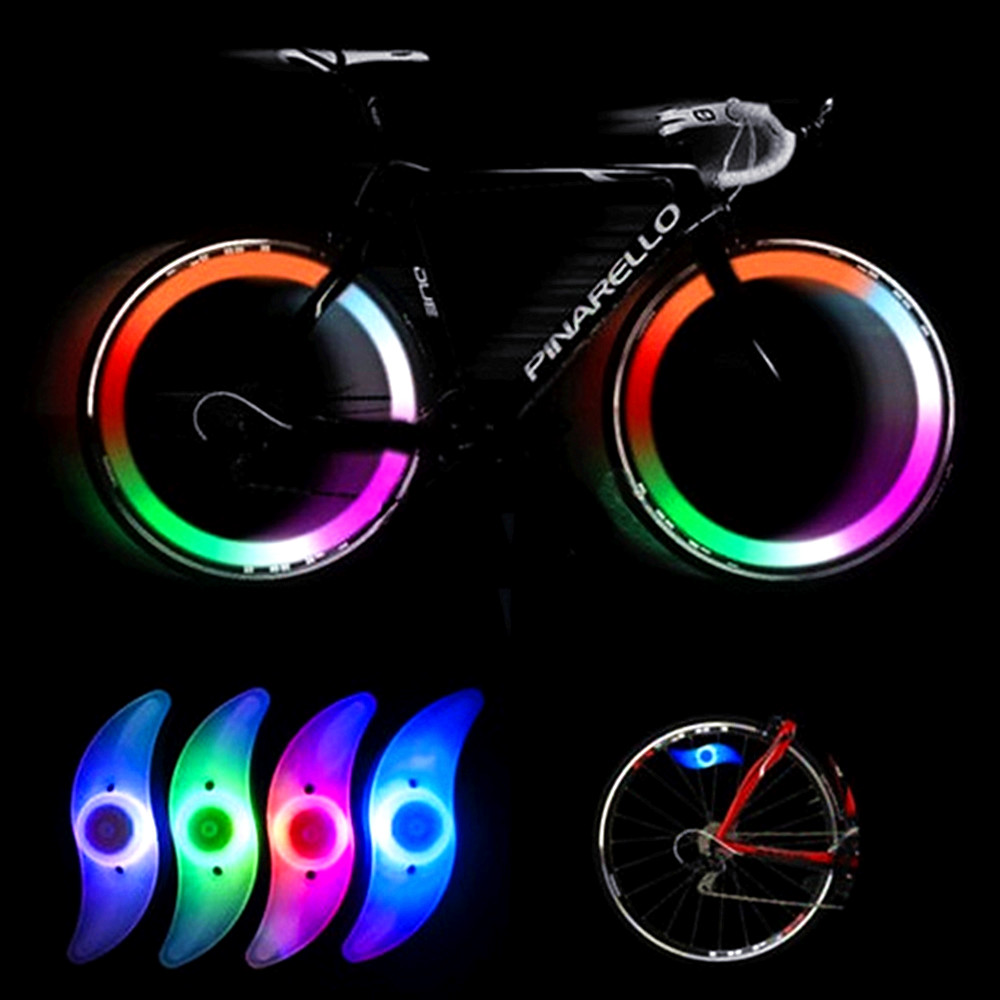 High Quality Bike Bicycle Cycling Spoke Wire Tire Tyre Wheel LED Bright Lamp Outdoor Sports Bike Cycling Accessories