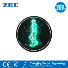 200mm Green Waking Man LED Traffic Signal Module Green Pedestrian Traffic Lamp Zebra Crossing Light 100mm diameter red yellow green cluster one piece traffic signal module