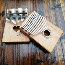 17 ключей калимба в африканском стиле твердого красного дерева палец фортепиано 17 ключей твердого дерева калимба Mbira палец