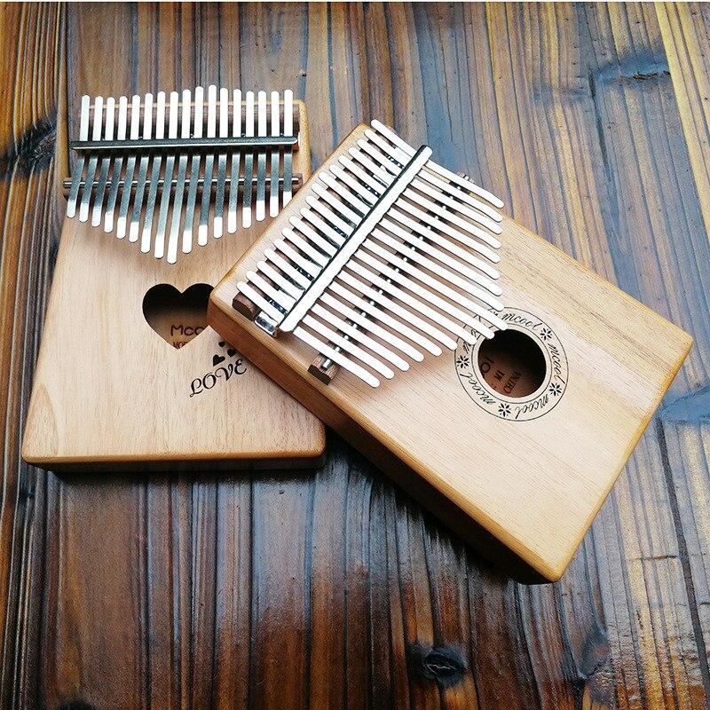17 Key Kalimba African solid Mahogany Thumb Finger Piano 17 keys Solid Wood Kalimba Mbira Thumb kalimba piezo pickup mbira accessories thumb piano pick up musical instruments
