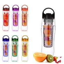 Botella de Agua Infusor Fruta creativa de Hacer Jugo Botella Conveniente Botella de Agua de Viaje de Camping Al Aire Libre Aplicación Venta Nave de la Gota