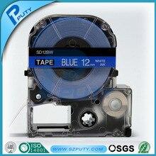 Совместимость на синем фоне SD12BW 12 мм лент принтеры этикеток