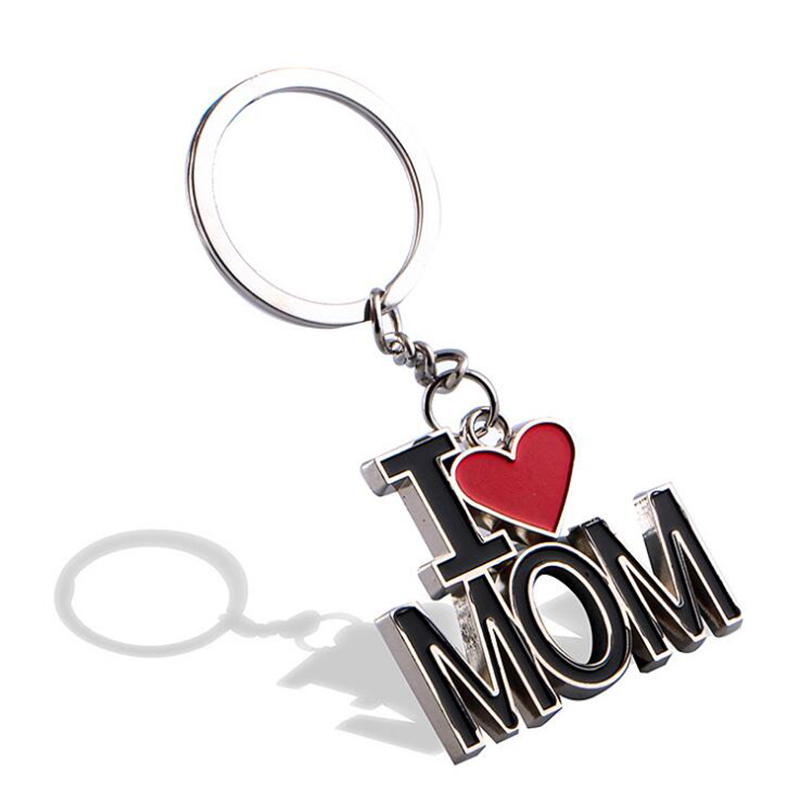 New Hot Sale Mothers Day Gift Keychain I Love Mommy Pendant Alloy Keychain Factory Wholesale Customizable Name Tykun tngyp1.6