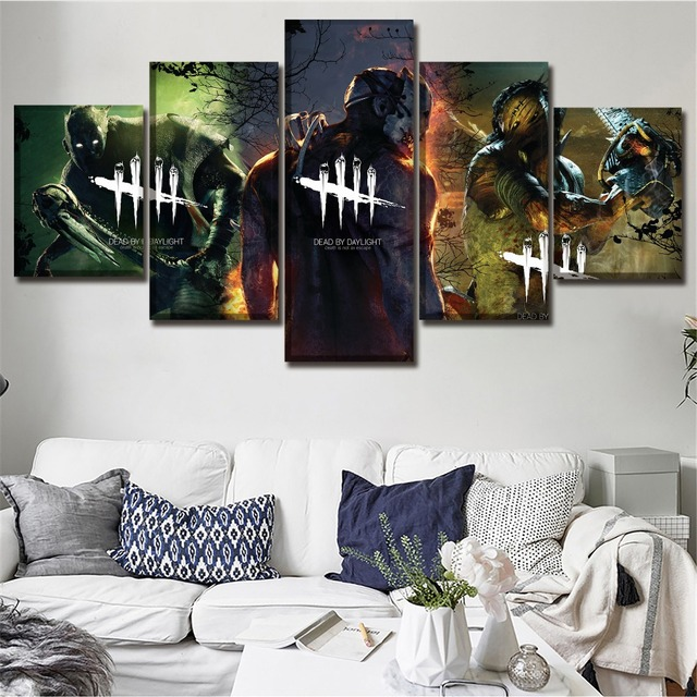 Modular Picture 5 Piece Game Dead By Daylight Poster Modern Living Room  Wall Art Home Decorative