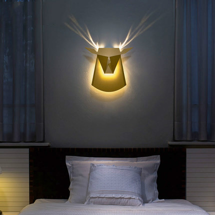 Nordic Decorative Wall Sconces Led Bed Headboard Lamp Indoor Stairway Lighting Antler Design Mounted Bedroom In Lamps