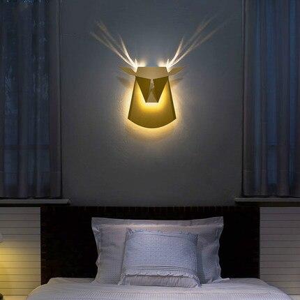 nordic Indoor Beleuchtung Montiert 40Off Led Design Stairway Wandleuchten Kopfteil Lampe Wand Wandleuchte Dekorative Us67 2 Geweih Bett Kc3TluF1J