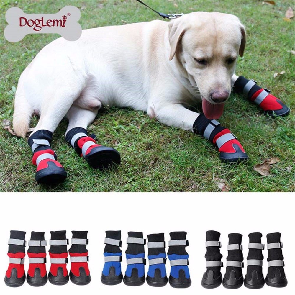 #11 USA SELLER Boots Sneakers 4 Shoes For Small Large Big Dog BLACK size #1