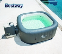 54138 BestWay 180x180x71cm Hawaii HydroJet Pro SPA 71x71x28 Lay Z Spa Square Inflatable Massage SPA Family Heating Swim Pool