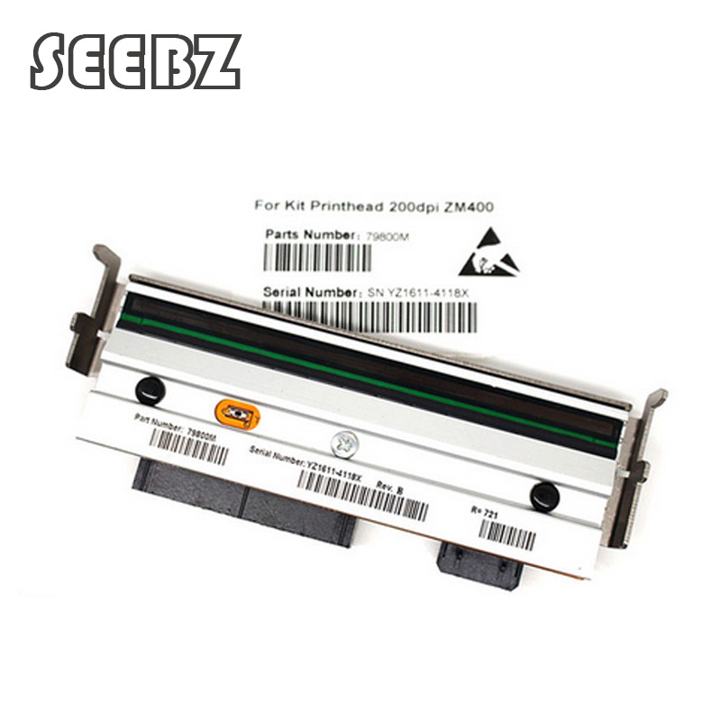 New Thermal Printhead For Zebra ZM400 203dpi Thermal barcode label printers Compatible 79800M Printer Parts,free shipping used free shipping pressure lever spring compatible zebra 105sl thermal label printer printer part printing accessories