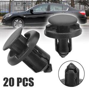 Image 1 - 20 sztuk/zestaw 8mm 10mm otwór plastikowy ustalający zderzak nitowy klips wykończeniowy pokrywa silnika zacisk panelowy łączniki dla Honda Civic Accord